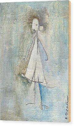Sad Girl Wood Print by Ricky Sencion