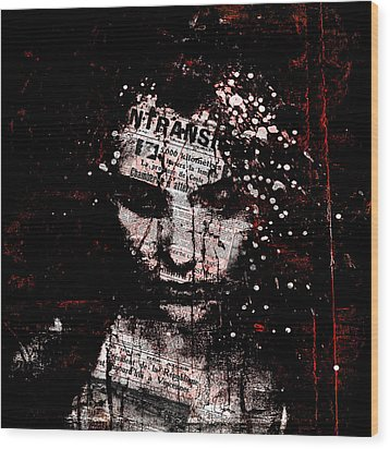 Wood Print featuring the digital art Sad News by Marian Voicu