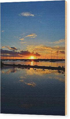 Safe Harbor Wood Print by Bo Chambers