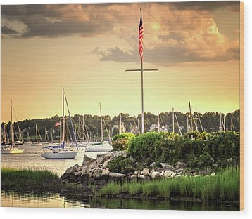 Wood Print featuring the photograph Safe Harbor Bristol Ri by Tom Prendergast