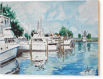 Safe Harbor Wood Print by Jim Phillips