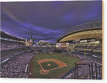 Safeco Field Wood Print by Dan McManus