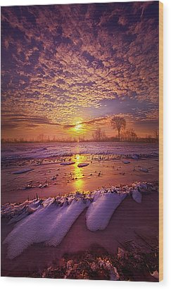 Wood Print featuring the photograph Safely Secluded In A Far Away Land by Phil Koch