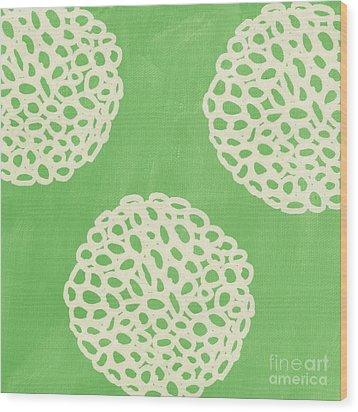 Sage Garden Bloom Wood Print by Linda Woods