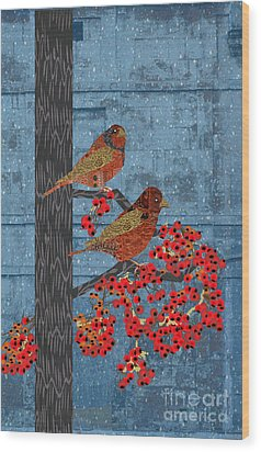 Wood Print featuring the digital art Sagebrush Sparrow Long by Kim Prowse