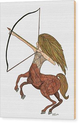 Sagittarius Wood Print