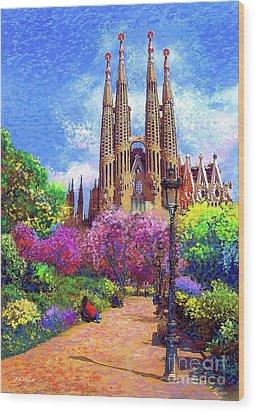 Sagrada Familia And Park,barcelona Wood Print