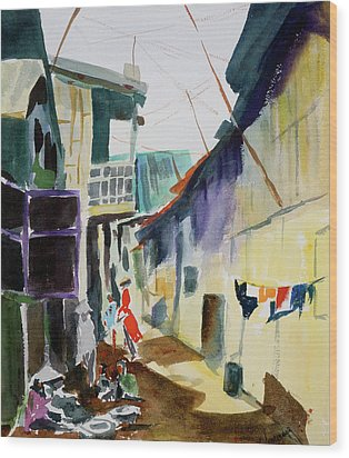 Saigon Alley Wood Print