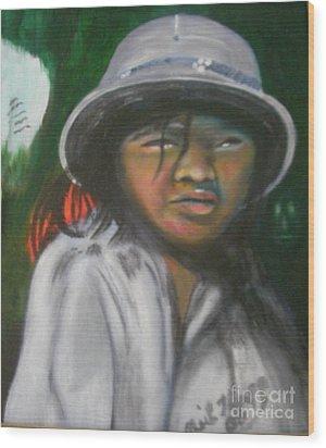 Saigon Soldier Wood Print by Neil Trapp