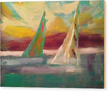 Sail Away 1 Wood Print