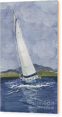 Sail Away Wood Print by Eva Ason