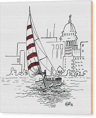 Sail Away Wood Print by Marilyn Smith