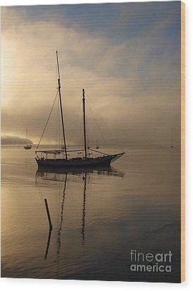 Sail Boat Wood Print by Trena Mara