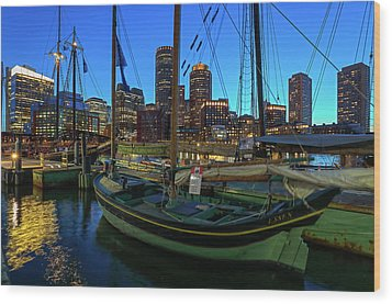 Wood Print featuring the photograph Sail Boston Tall Ship Essex by Juergen Roth