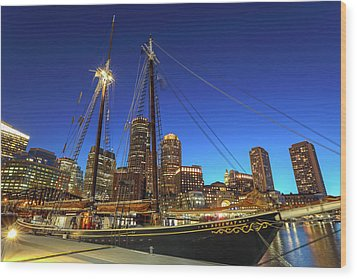 Wood Print featuring the photograph Sail Boston Tall Ships by Juergen Roth