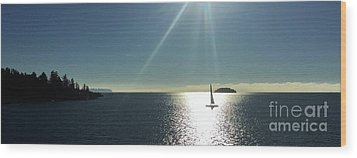 Wood Print featuring the photograph Sail Free by Victor K