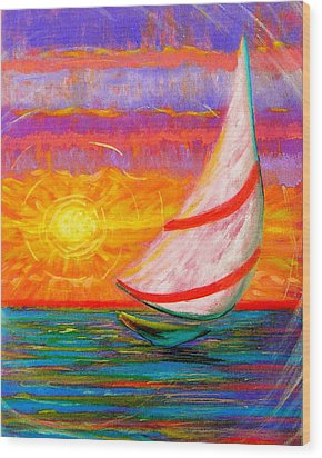 Sailaway Wood Print by Jeanette Jarmon