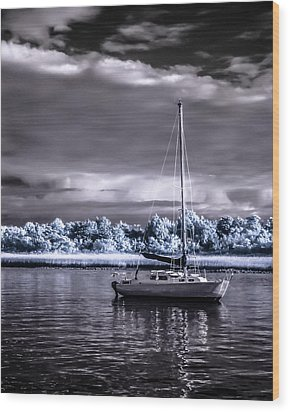 Sailboat 01 Wood Print
