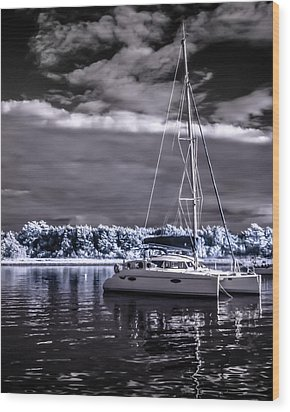 Sailboat 02 Wood Print
