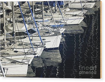 Sailboat Bow Wood Print by John Rizzuto