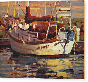Sailboat Wood Print by Brian Simons