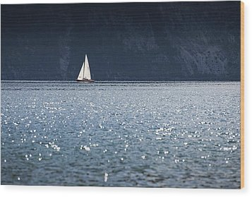 Sailboat Wood Print by Chevy Fleet