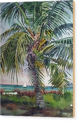 Sailboat In The Keys Wood Print