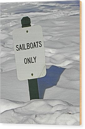 Sailboats Only Wood Print by Elizabeth Hoskinson