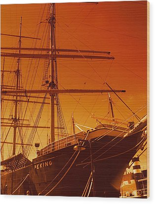 Sailin Out Of Here Wood Print by Julie Lueders