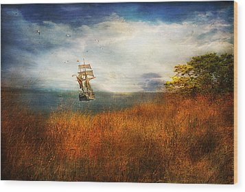 Wood Print featuring the photograph Sailing America by John Rivera