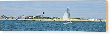 Sailing Around Barnstable Harbor Wood Print by Charles Harden