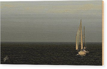 Sailing Wood Print by Ben and Raisa Gertsberg