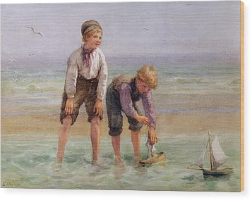 Sailing Boats  Wood Print by Edith Hume