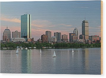 Sailing Boston Wood Print by Juergen Roth