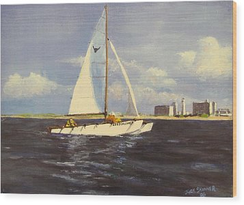 Sailing In The Netherlands Wood Print by Jack Skinner