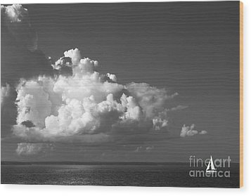 Sailing Into Storm Wood Print