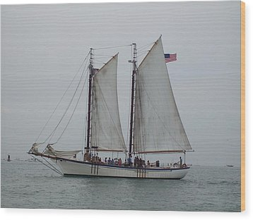 Wood Print featuring the photograph Sailing Key West  by Nancy Taylor