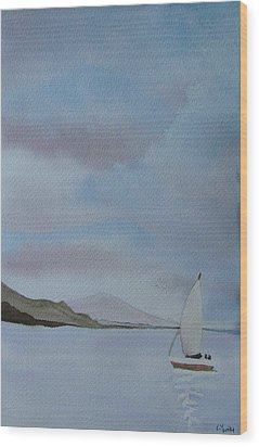 Sailing Wood Print by Liz Vernand