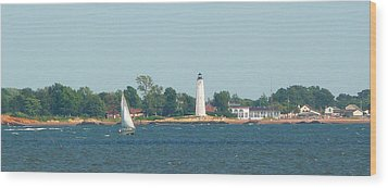 Sailing New Haven Wood Print by Margie Avellino