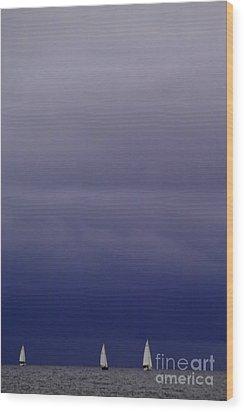 Sailing On Baltic Sea Wood Print by Heiko Koehrer-Wagner