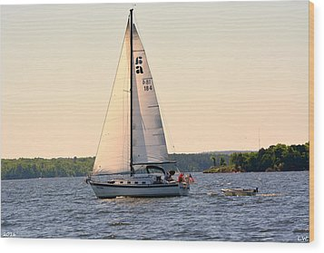 Sailing On Lake Murray Sc Wood Print