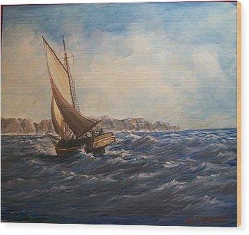 Sailing On Narragansett Bay Wood Print