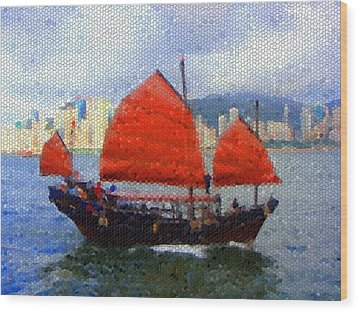 Sailing On The East Wood Print by Roberto Alamino
