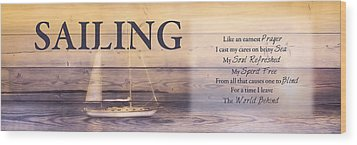 Wood Print featuring the photograph Sailing by Robin-Lee Vieira