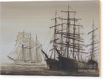 Sailing Ships Wood Print by James Williamson