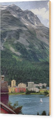 Sailing St Moritz Wood Print by Jeff Kolker