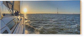 Sailing Sunset Wood Print by Dustin K Ryan