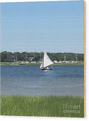 Sailing The Cape Wood Print