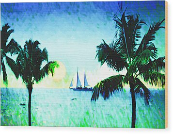 Sailing The Keys Wood Print by Bill Cannon