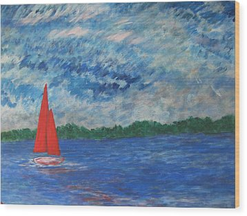 Sailing The Wind Wood Print by John Scates